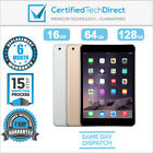 Apple iPad Mini 3 WiFi + 4G 16GB 64GB 128GB A1600 *Great *6 MONTH WARRANTY*