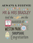 PERSONALISED WEDDING ANNIVERSARY ENGAGEMENT - BUILD YOUR PRINT WORD WALL ART