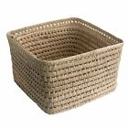 Square Palm Wicker Storage Basket in 2 Sizes
