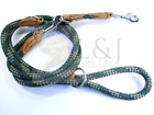 Strong Rope Lead Leash with Genuine Leather Attachments. Good and Strong