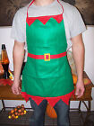 Christmas Felted Apron ELF Pixie SANTA Mrs.CLAUS Fun Costume Bake Cook Holiday