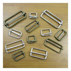 15mm - 50mm STEEL UN-WELDED BUCKLE SLIDERS *2 COLOURS & 6 SIZES* SLIDING BAR UK