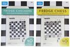 Fridge Checkers / Chess Magnets - Novelty Magnetic Board & Over 40 Pieces