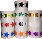 Star Shaped Stickers, 3/4 Inch Wide Labels, 500 on a Roll, 14 Color Choices