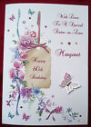 BIRTHDAY CARD - Personalised Handmade A5 40th 50th 60th 65th 80th 90th  (1581)