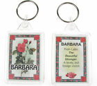 "NOVELTY NAME KEYRING PRINTED BOTH SIDES WITH ORIGIN & MEANING, LETTER ""B"" UK NEW"