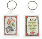 "NOVELTY NAME KEYRING PRINTED BOTH SIDES WITH ORIGIN & MEANING, LETTER ""T"" UK NEW"