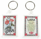 "NOVELTY NAME KEYRING PRINTED BOTH SIDES WITH ORIGIN & MEANING, LETTER ""L"" UK NEW"
