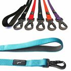 Nylon Dog Lead 3 Sizes Dog Leash Carabiner Easy Fix Clip Strong FREE P&P