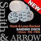 "5"" HOOK & LOOP VELCRO DISKS SANDING PAD ORBITAL SANDER DRYWALL 8 HOLE 80 - 800 #"