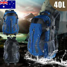 New 40L Waterproof Outdoor Hiking Travel Large Backpack Camping Rucksack Bag AU