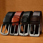 Men's Fashion Leather Belt Waist Band Strap Letter Pin Buckle Waistband Casual#J