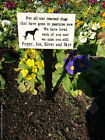GRANITE LOOK ENGRAVED PET MEMORIAL ON STAKE PERSONALISED WITH YOUR INSCRIPTION
