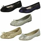 Ladies Spot On White/Silver/Gold Dolly Shoes UK Sizes 3-8 F80037