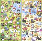 Mind Wave We Heart Dogs OR We Heart Cats Puffy Sticker Sheet (Your Choose)