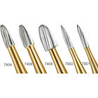 10Pcs Dental Carbide Trimming & Finishing Burs #7404/7406/7408/7901/7902 FG