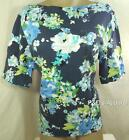 Charter Club Womens Plus Size Shirt Top Blue Short Sleeve Blouse Size 1X New