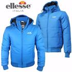 Ellesse Mens Jacket Hooded Warm Padded Winter Jacket Coat Trivento Blue