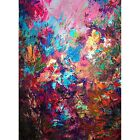 Framed Canvas Art Print Painting Oil Acrylic Artwork Floral Impressionism Flower