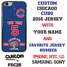 Chicago Cubs 2016 World Series Champonship Jersey Phone Case for iPhone Samsung