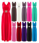 New Womens Ladies Full Length Buckle Maxi Dress Plus Sizes Evening/Party Dress