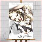 Marilyn Monroe Large XL Framed Box Canvas Print Picture Famous Quote Icon Star
