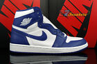 AIR JORDAN 1 ONE RETRO HIGH OG WHITE STORM BLUE 555088-127 NEW MENS SIZE 11