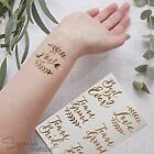 TEMPORARY WEDDING / HEN PARTY TATTOOS - Metallic Rose Gold - Team Bride/Groom