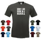 'Kings are Born in March' Men's Custom Birthday Funny T-shirt