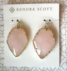NWT Kendra Scott Corley drop earrings in Gold & Rose quartz NWT & KS bag