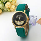 Printed Pu leather strap analog watch for Women