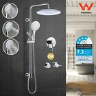 "2 in 1 Up Down Sliding Rail Holder 10""  Rainfall Shower Head Handheld Spray Set"