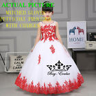 Flower Girl Dresses for Pageant Prom Birthday Wedding Party Princesses Gown New