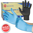 SAFETOUCH NEW Nitrile Disposable Powder Free Gloves - Blue or Black - 100 Boxed