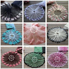 1 Yd Floral Embroidery Lace Trims  Diy Dress Mesh Tulle Crafts Embellishment