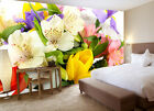 Unique Colorful Flower Tulip Full Wall Mural Photo Wallpaper Print Home 3D Decal