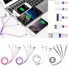 USB Universal Ladekabel 4 in 1 USB A Stecker Ladestecker for iPad Samsung iPhone
