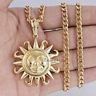 Mens Chain Silver Gold 316L Stainless Steel Tribe Sun PENDANT Necklace 18-36inch