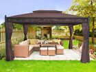 3x4M Metal Gazebo Pavilion Awning Canopy Sun Shade Shelter Marquee Tent Greenbay
