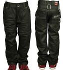 ENZO BNWT BOYS BABIES LATEST TRENDY BLACK COATED FASHION JEANS  2-10 YEARS