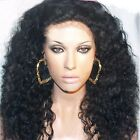 100% Indian Remy Human Hair 14-24 Inch Curly Wave Full Hair Wigs Lace Front Wig
