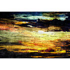 Framed Canvas Fine Art Print Abstract Painting Texture Sunset