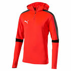 Puma evoTrg 2017 Soccer Long Sleeve Training Hooded Top New Red / Black