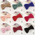 ❀ 5 Inch Soft Fabric Double Hair Bow Knot Barrette Clip ❀ 9 Colours ❀ UK STOCK ❀