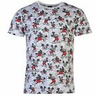 Disney Mickey Mouse T-Shirt Mens White/Red Top Tee Shirt