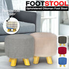 Luxury Chic Wooden Footstool Ottoman Pouffe Stool Foot Rest Padded Seat Bedroom