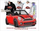 2014 MINI COOPER CONVERTIBLE HOODIE ILLUSTRATED CLASSIC RETRO MUSCLE SPORTS CAR