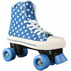 Rookie Rollerskates Canvas High Kinder Damen-Rollschuhe Quad Skates