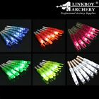12pcs LED lighted+2 replace battery Archery Arrow Nocks Tail for Shaft ID6.2mm