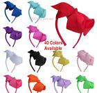 "alice band bow head band 6"" inch bow school dance moms 40 colours free post"